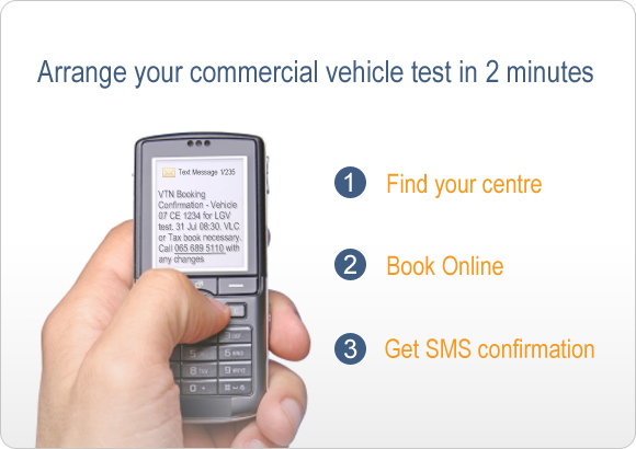 Arrange your commercial vehicle test in 2 minutes